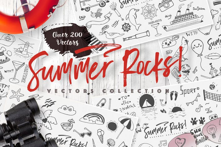 Thumbnail for Summer Rocks! Vectors Collection