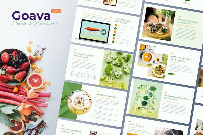 Goava - Шаблон Keynote для здоровья и питания