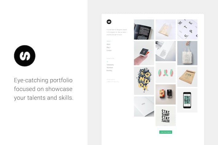 Thumbnail for Sonex — Minimalistic Portfolio