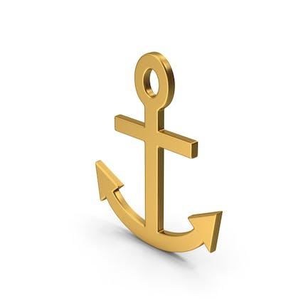 Symbol Anchor Gold