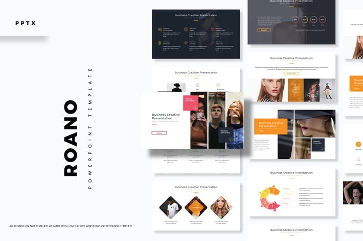 Thumbnail for Roano - Powerpoint Template