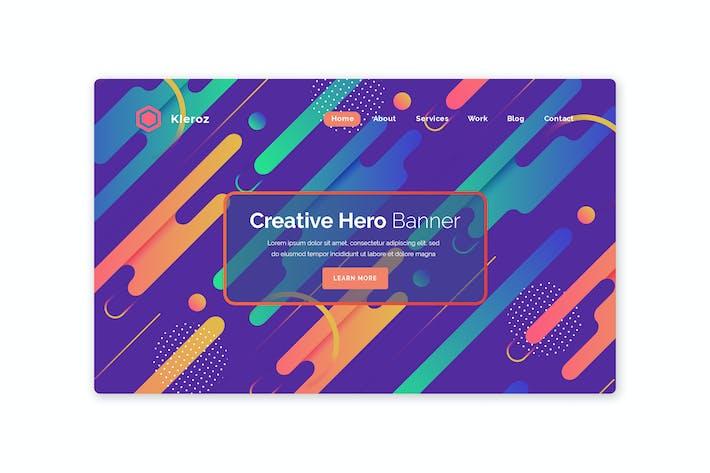 Kleroz - Hero Banner Template