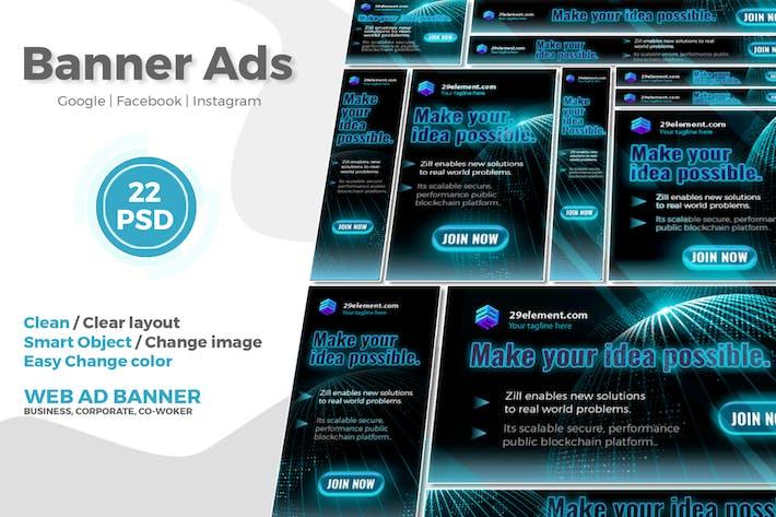 Thumbnail for Blockchain Platform Google Ads Web Banner V.2 - Tr
