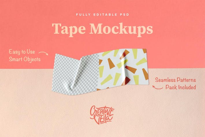 Thumbnail for Washi Tape PSD Mockups