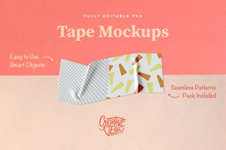 Washi Tape PSD Mockups