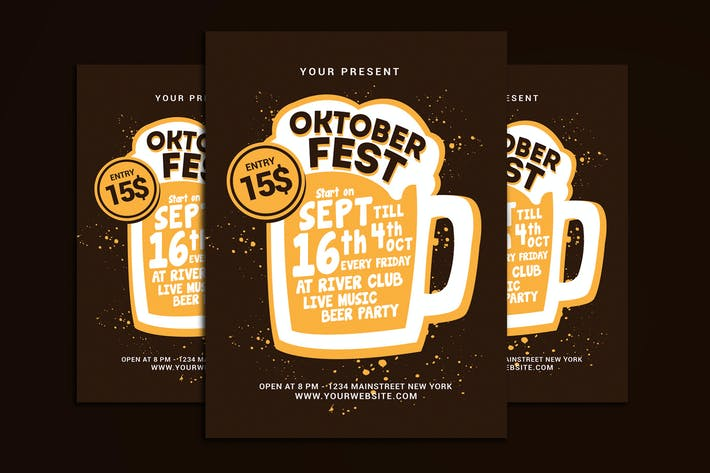 Thumbnail for Oktober Fest Flyer Template