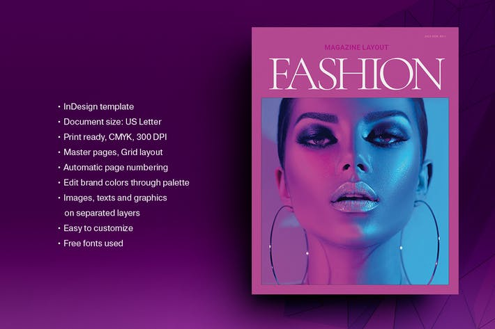 Pink Fashion Magazine Layout