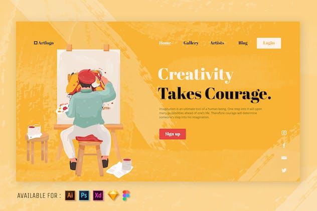 The Art of Creativity - Web Illustration
