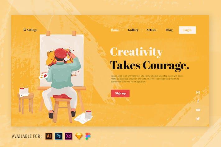 Thumbnail for The Art of Creativity - Web Illustration