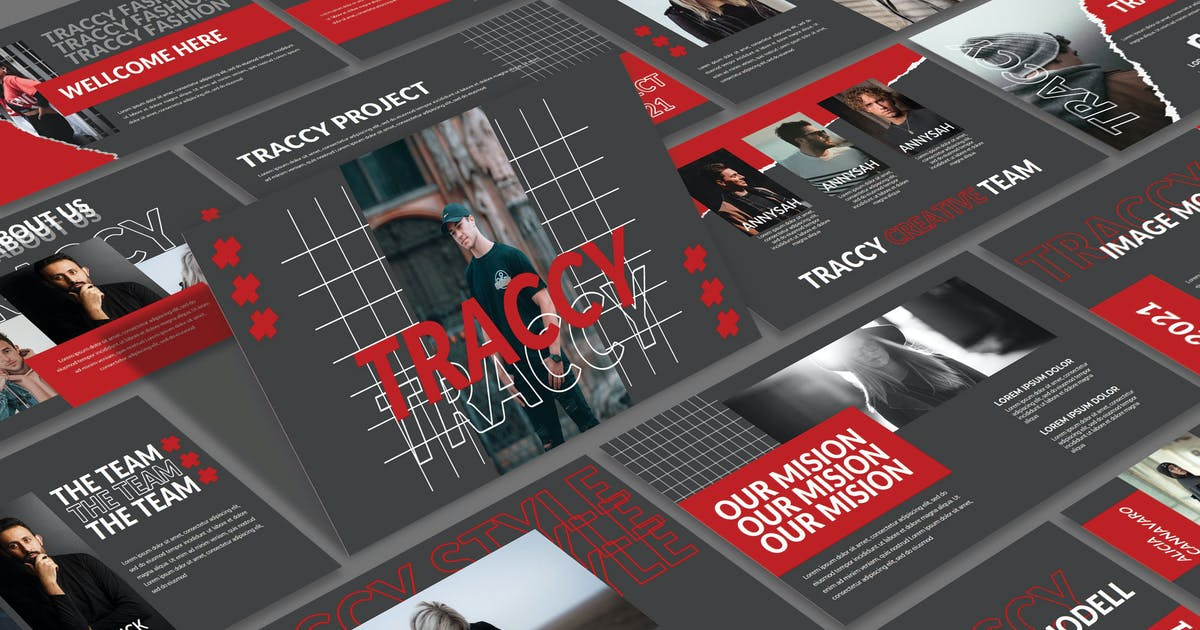 Download TRACCY - Keynote Template by joelmaker
