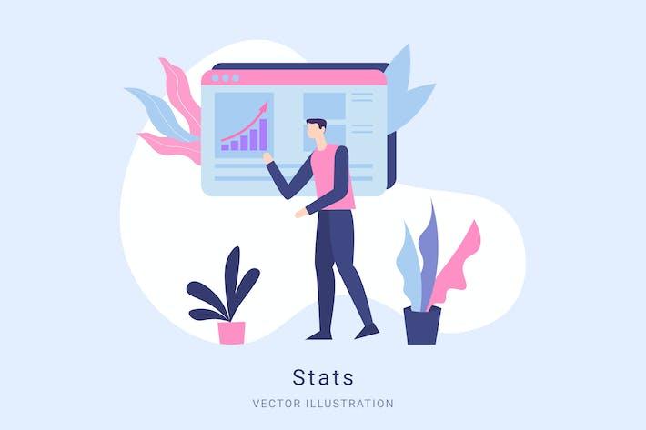Thumbnail for Stats Vector Illustration Scene