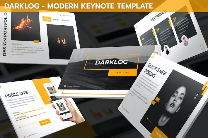 Thumbnail for Darklog - Modern Keynote Template