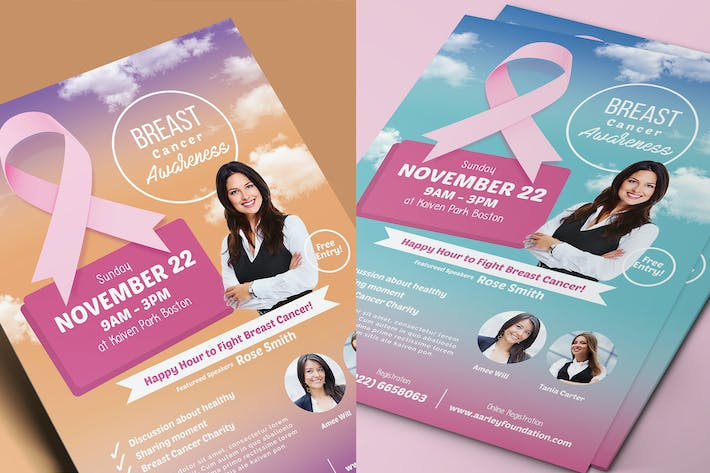 Thumbnail for Breast Cancer Awareness Flyer
