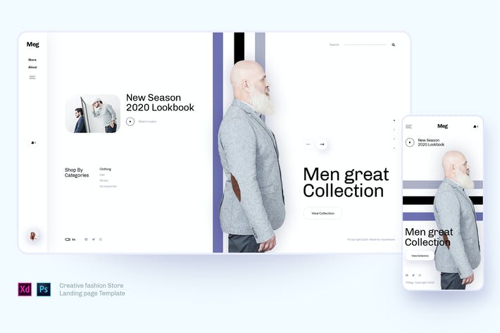 Thumbnail for Meg - Creative fashion Store template