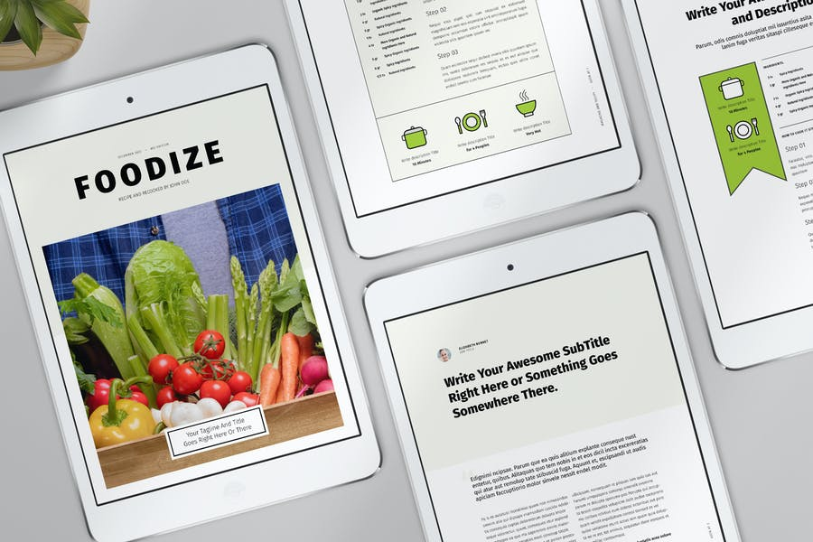 InDesign Magazine Layout with Photo Placeholders