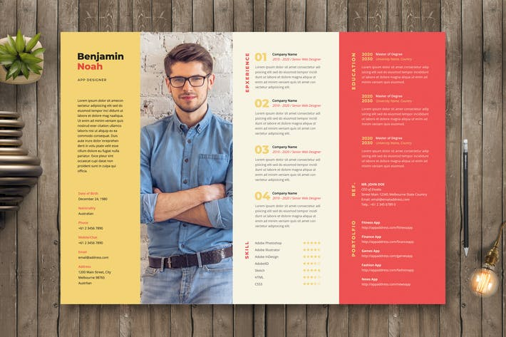Thumbnail for Creative Resume / CV Template 48
