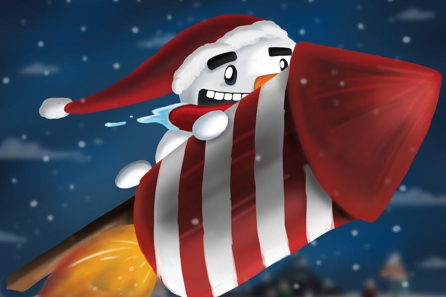 Snowman Rocket