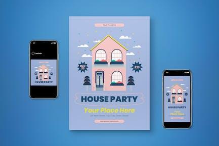 House Party Flyer Set