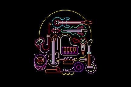 Neon Musical Design