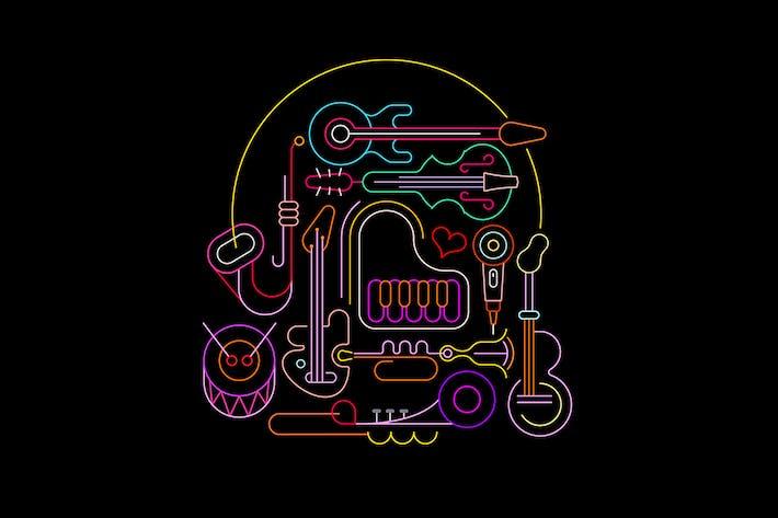 Thumbnail for Neon Musical Design