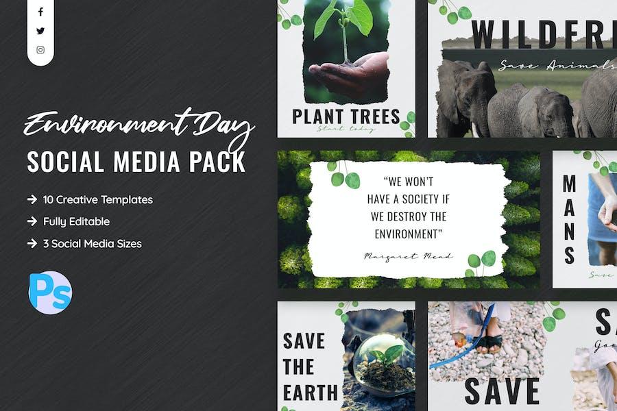 Environment Day Social Media Template