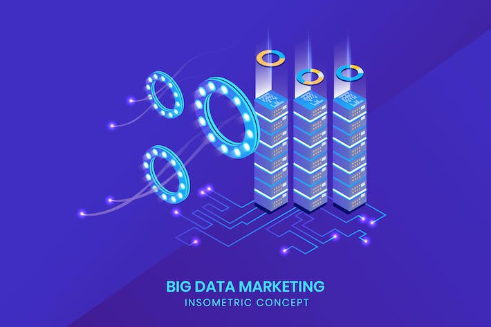 Thumbnail for Big Data Isometric - Insometric Concept