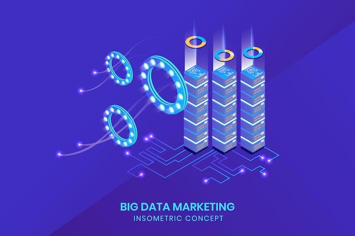 Big Data Isometrisch - Schlaflosigkeit Konzept