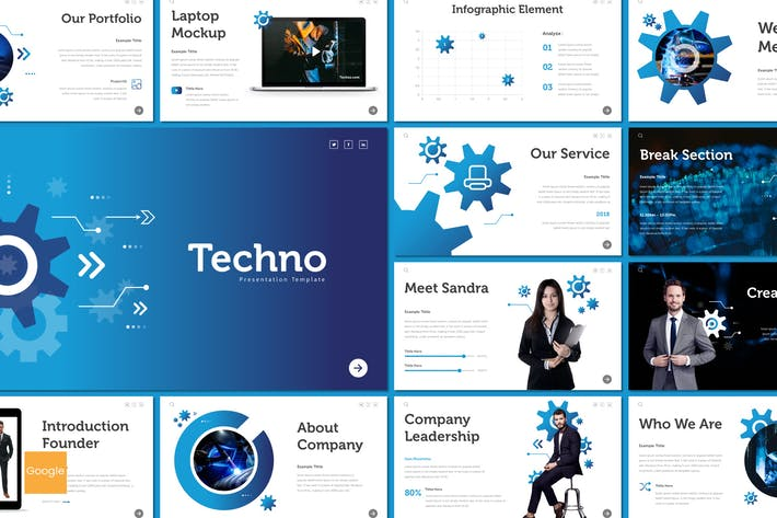 Cover Image For Techno - Google Slides Template