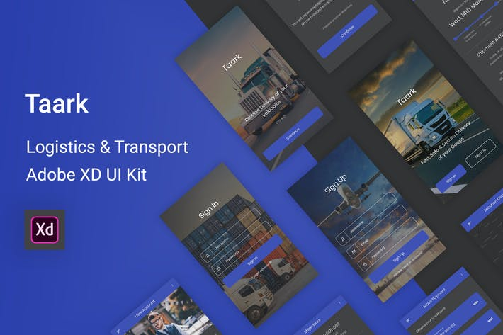 Thumbnail for Taark - Logistics & Transport Adobe XD UI Kit