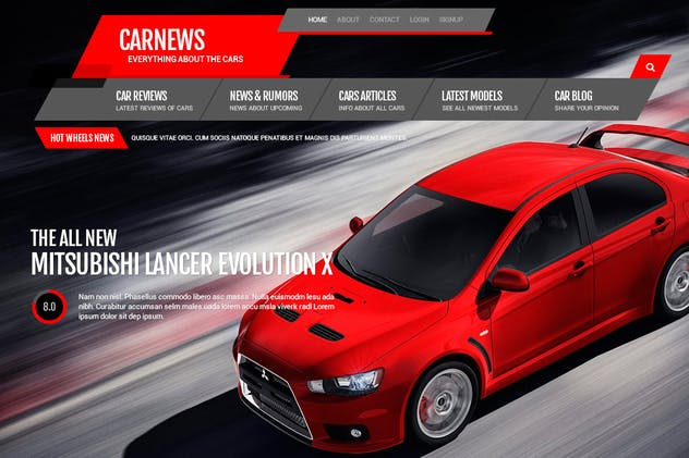 Car News - PSD Template
