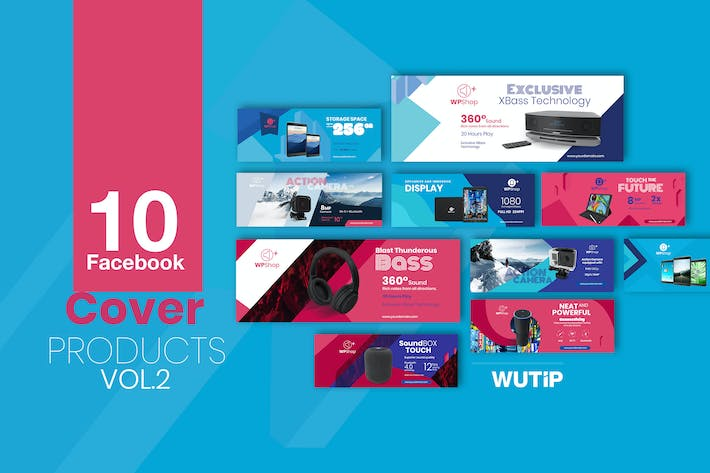 Thumbnail for 10 Facebook Cover-Products Vol2