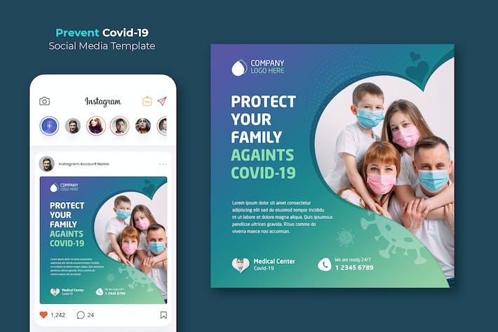 Thumbnail for Coronavirus Prevention Instagram Template