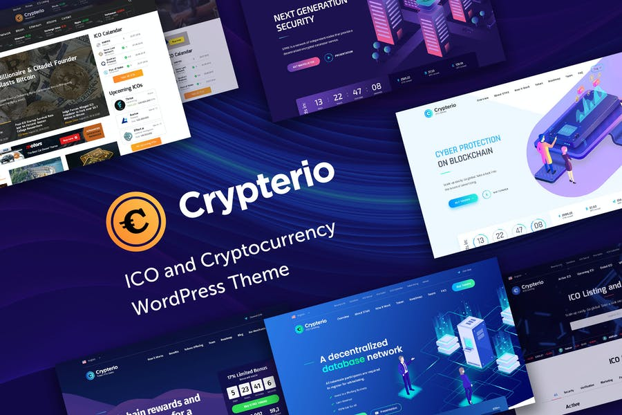 Crypterio - ICO and Cryptocurrency WP Theme