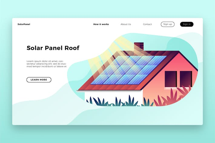 Thumbnail for Solar Panel Roof - Banner & Landing Page