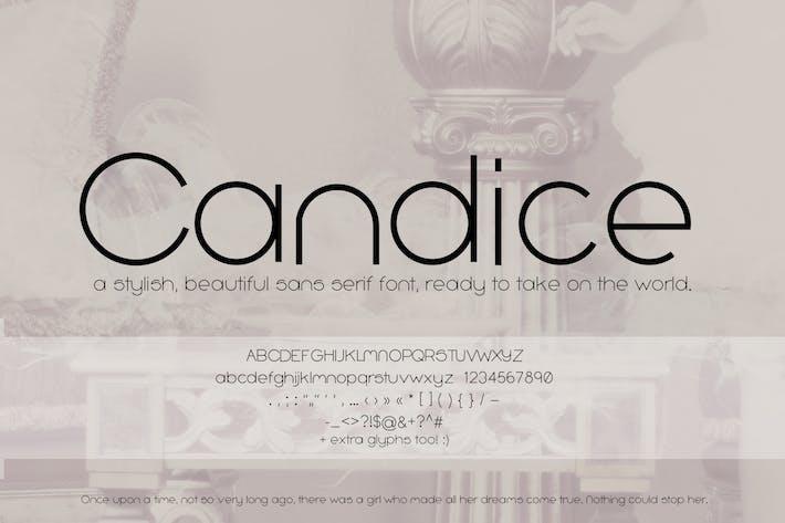 Candice Sans Con serifa Fuente (fuente geométrica)