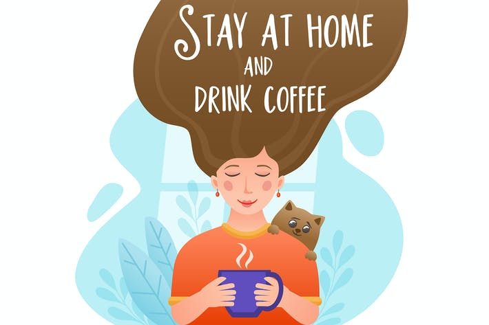 Thumbnail for Girl Drinking Coffee at Home