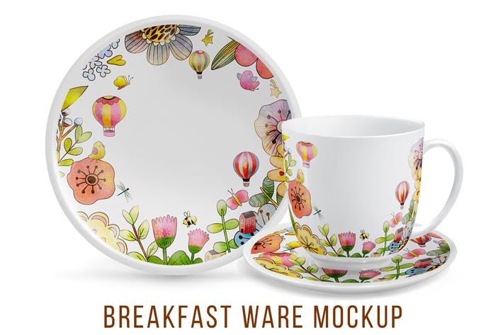 Thumbnail for Breakfast ware Mockup