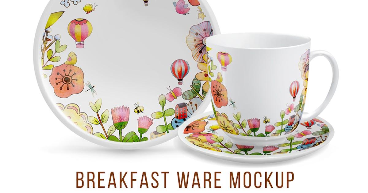 Download Breakfast ware Mockup by InnaOgando