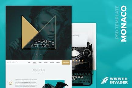 Monaco - Creative Bootstrap 3 PSD Modèle