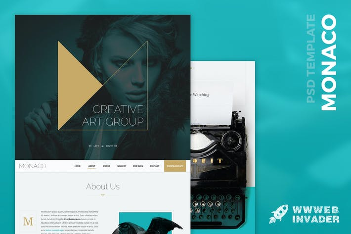 Thumbnail for Monaco - Creative Bootstrap 3 PSD Template