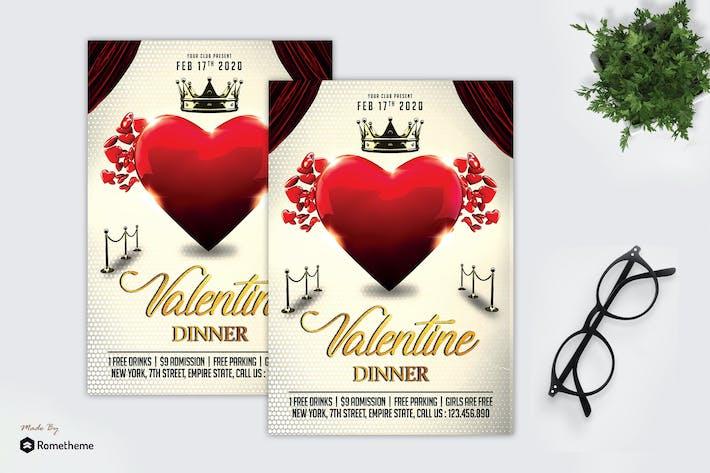 Thumbnail for Valentines Day Dinner - Flyer MR