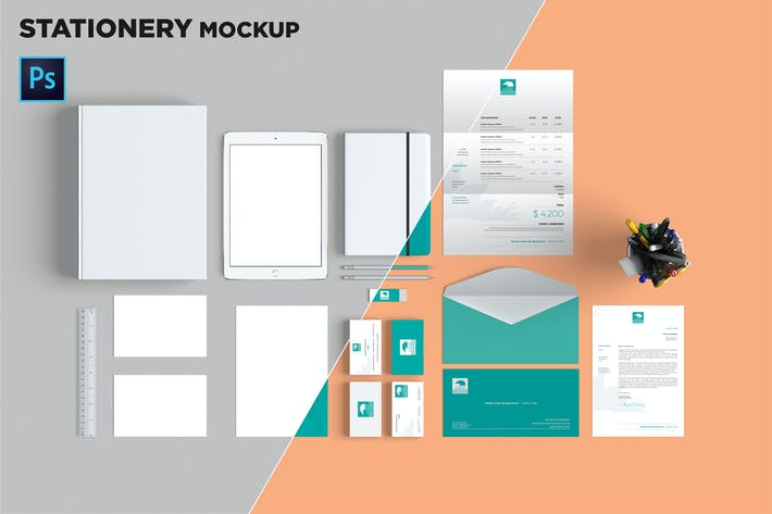 Thumbnail for Brand Identity / Stationery Mockup 07