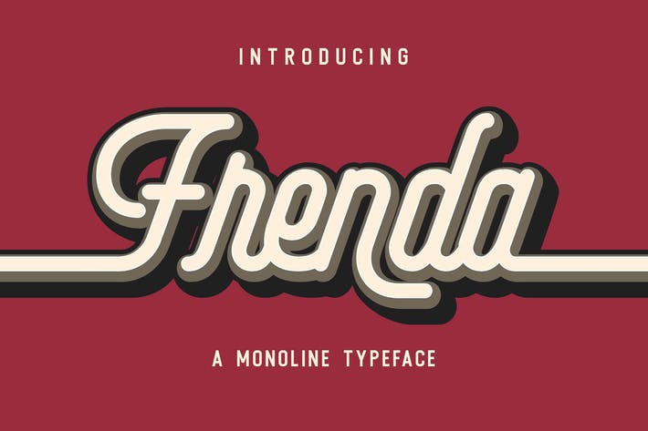 Thumbnail for Frenda - a Monoline Typeface