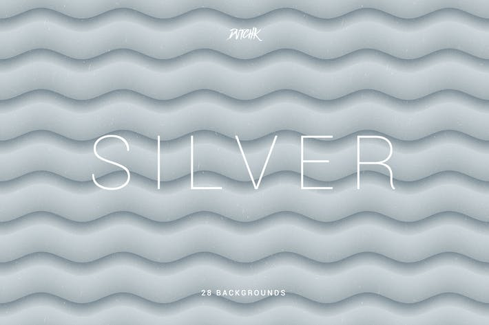 Thumbnail for Silver | Soft Abstract Wavy Backgrounds