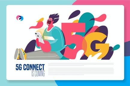 5G fast internet connection