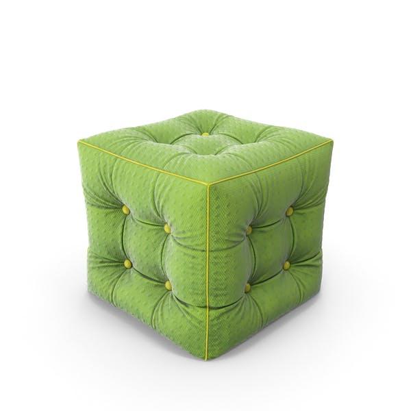 Пуф Зеленая ткань