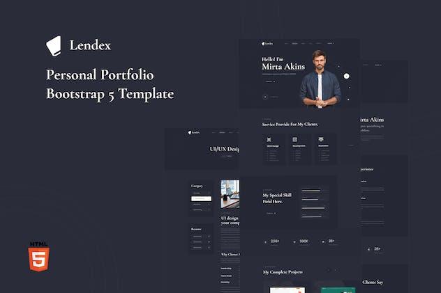 Lendex - Personal Portfolio Bootstrap 5 Template