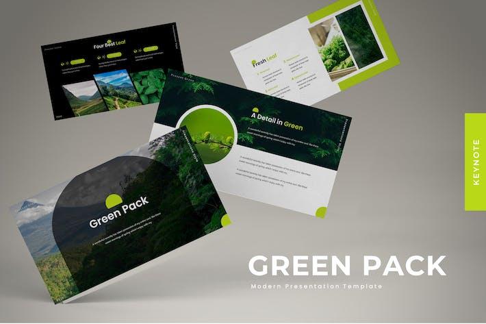Thumbnail for Зеленый пакет - Шаблон Keynote