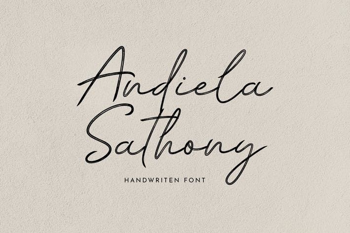 Andiela Sathony Signature Font