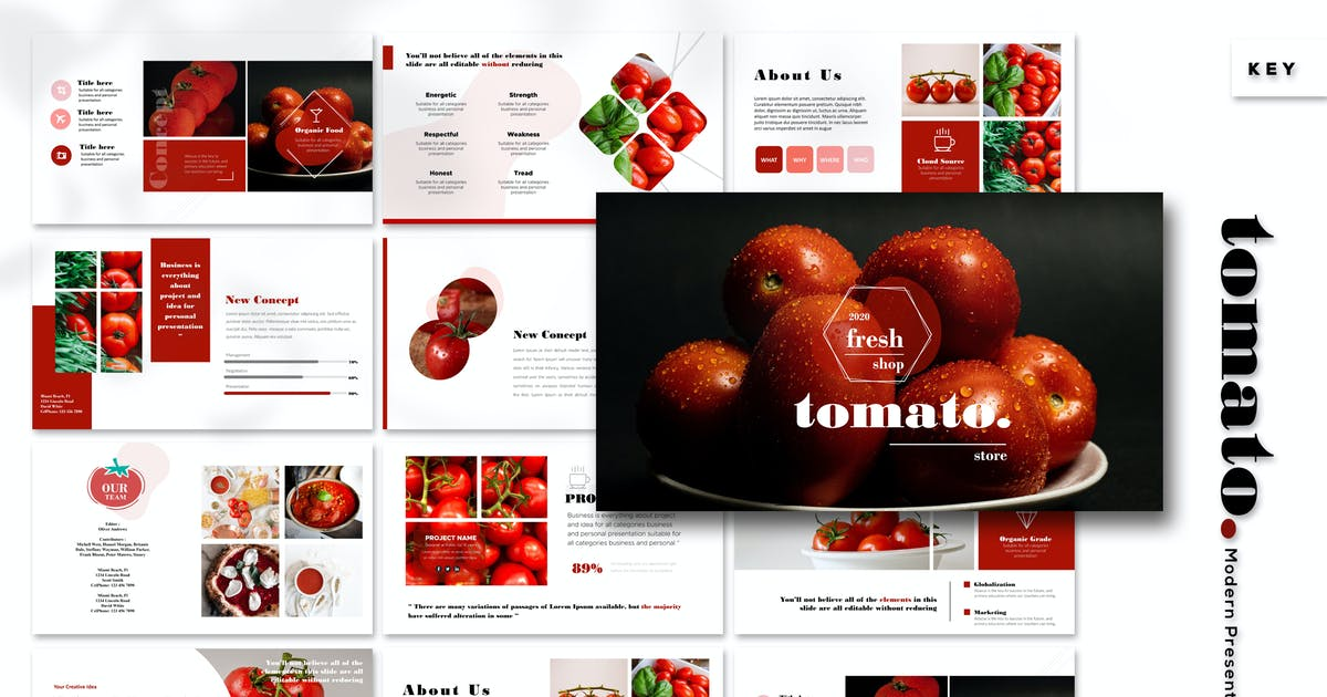Download Tomato - Keynote Template by Artmonk